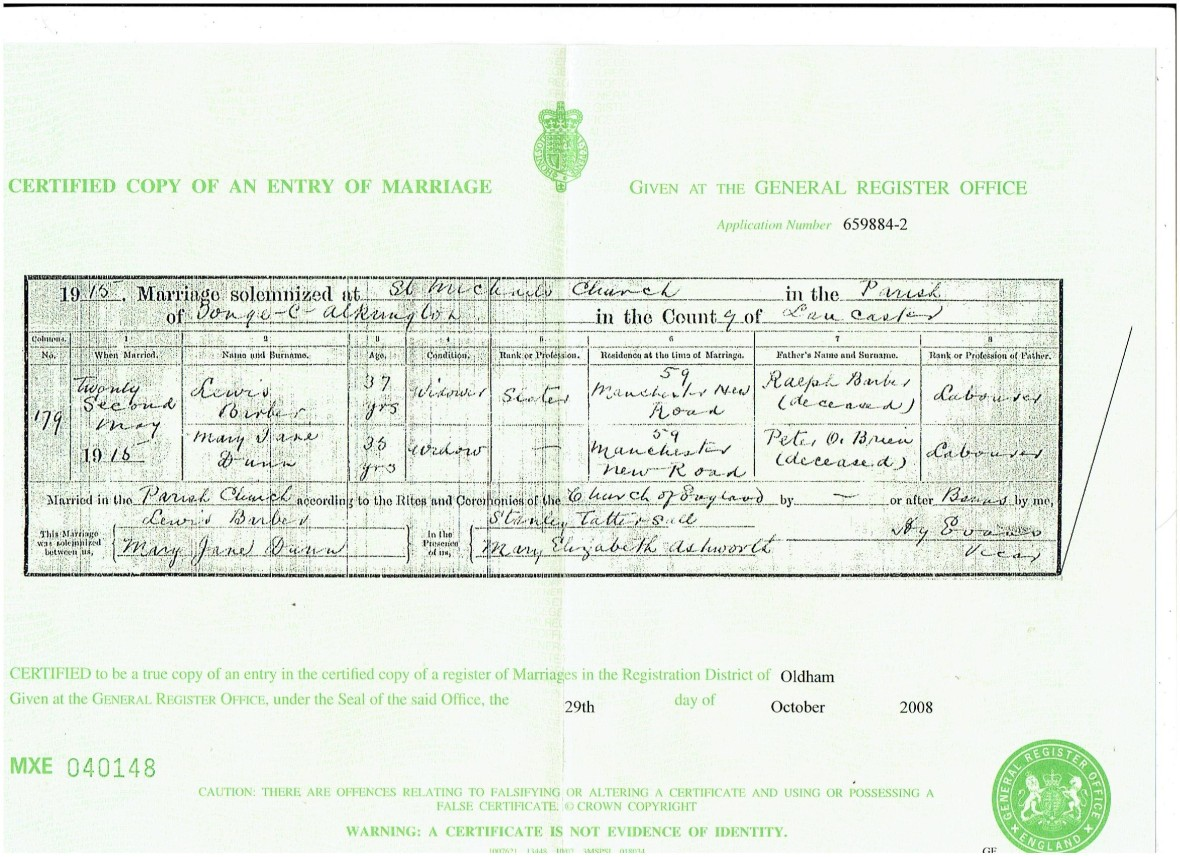 Marriage certificate Mary Jane Dunn 001 (2)